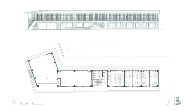 36_china-Wuyishan-Bamboo-Raft-Factory_tao-architects_plan-elevation