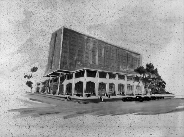 Esquisse projet du siège de Société Générale à Abidjan